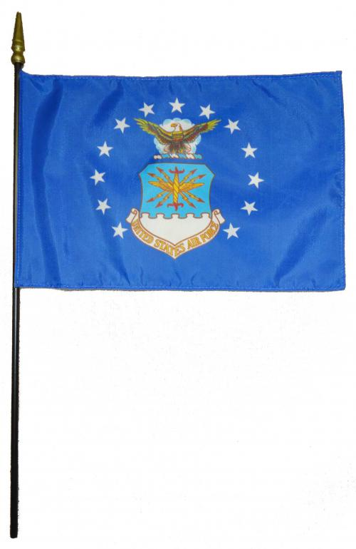 U.S. Air Force USAF Larger Desk Flag, 8 X 12