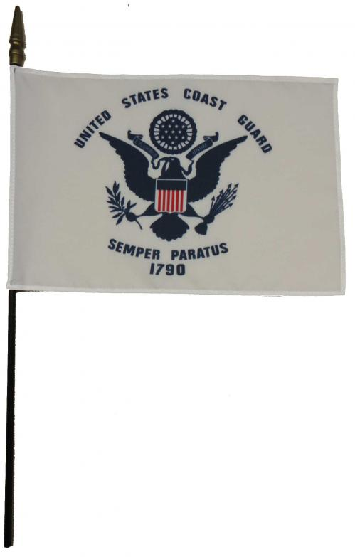 U.S. Coast Guard USCG Larger Desk Flag, 8 X 12