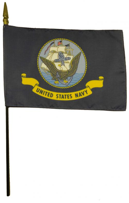 U.S. Navy USN Larger Desk Flag, 8 X 12