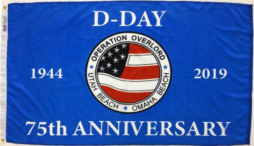 Annin WWII D Day 75th Anniversary Flag