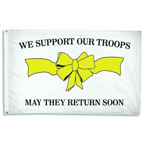 We Support Our Troops Nylon Flag, 3 X 5