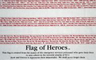 Flag of Heroes Poly/Cotton Flag, 3 X 5