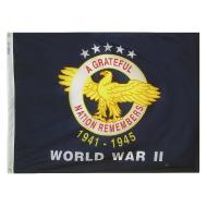 WWII Commemorative 1941 - 1945 Nylon Flag, 3 X 4