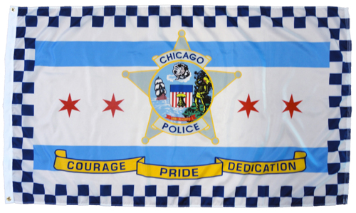 Chicago Police Dept Flag