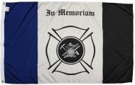Fire Fighter Fireman In Memoriam Nylon Flag, 3 X 5