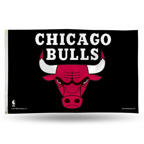 Chicago Bulls NBA Polyester Flag, 3 X 5