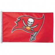 Tampa Bay Buccaneers Red NFL Polyester Flag, 3 X 5
