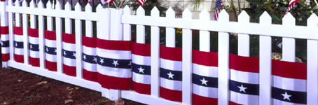 R/W/B Style D-282 Patriotic Poly/Cotton Bunting, 36 X 60YDS