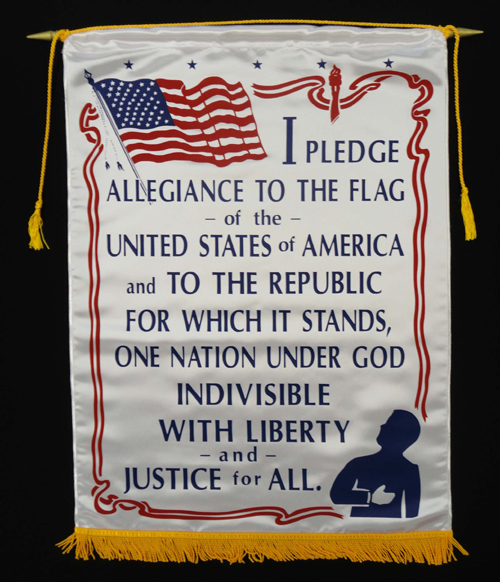 Pledge of Allegiance Satin Banner