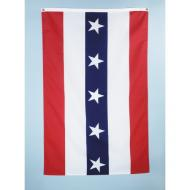 Half Fan Flat Style 282 Poly Cotton Flag, 3 X 5