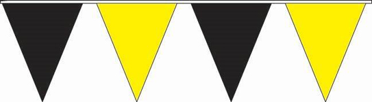 Black and Yellow Pennant Strings