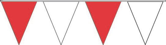 Red and White Pennant Strings