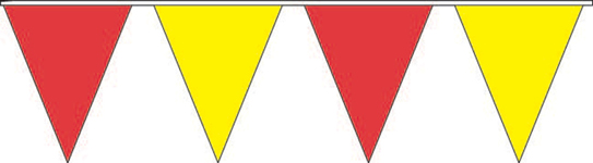 Red and Yellow Pennant Strings