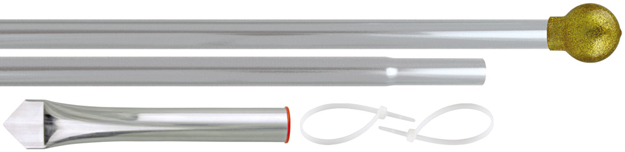 Eder Budget Display Aluminum Flagpole Set