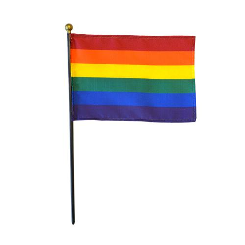 Rainbow LGBT Miniature Desk Flag Ball, 4 X 6