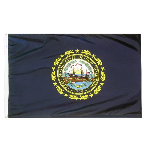 State of New Hampshire Outdoor Nylon Flag