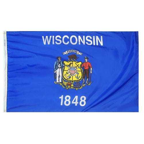State of Wisconsin Outdoor Nylon Flag