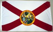 STATE OF FLORIDA 2-PLY SPUN POLYESTER FLAG, 3 X 5