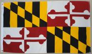 State of Maryland 2-ply Spun Poly Flag, 3 X 5