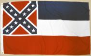 State of Mississippi 2-ply Spun Poly Flag, 3 X 5