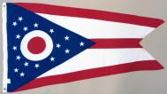 State of Ohio 2-ply Spun Poly Flag, 3 X 5