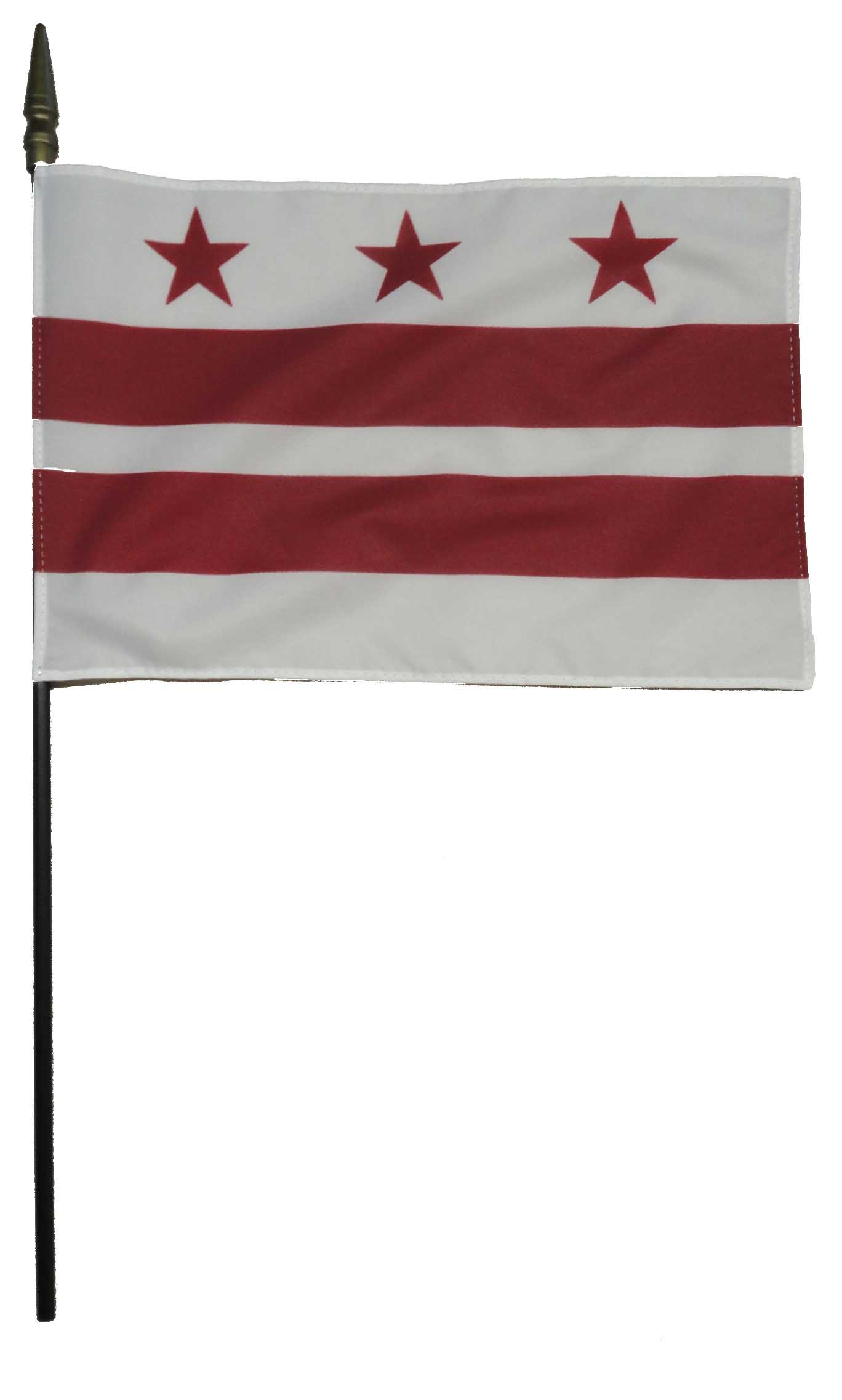 District of Columbia DC Larger Desk Flag, 8 X 12