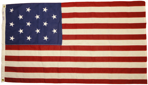 Star Spangled Banner Sewn Cotton Flag, 3 X 5