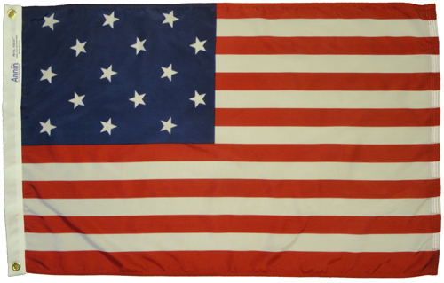 Star Spangled Banner Dyed Nylon Flag, 2 X 3