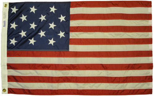 Star Spangled Banner Sewn Nylon Flag, 2 X 3
