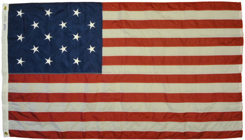Star Spangled Banner Sewn Nylon Flag, 3 X 5