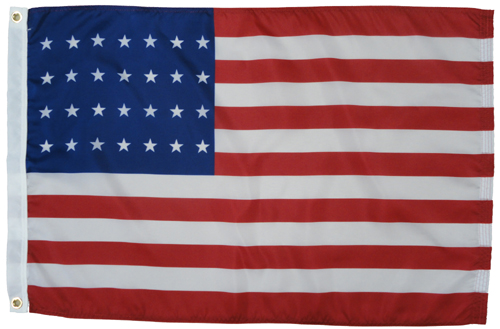 United States U.S. 28 Star Dyed Nylon Flag, All Sizes