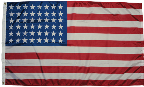 United States U.S. 48 Star Dyed Nylon Flag, All Sizes