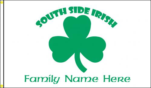 South Side Irish Personalized Family Flag