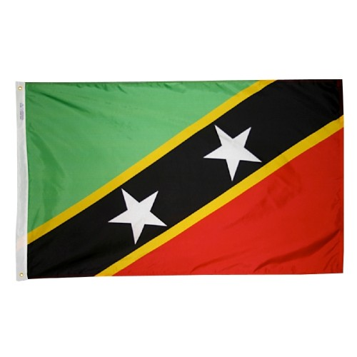 Saint Kitts Nevis International Nylon Flag
