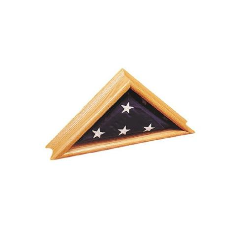 Deluxe Oak Memorial Flag Display Case