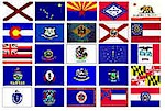 State flags and Territorial Flags