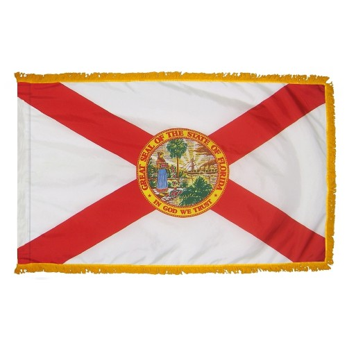 State of Florida Fringed Indoor Parade Presentation Flag