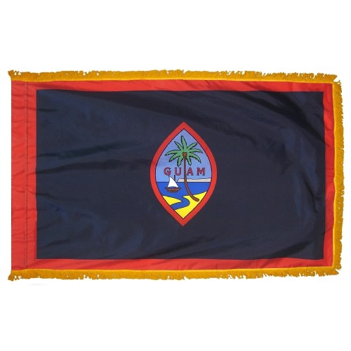 Territory of Guam Fringed Indoor Parade Presentation Flag
