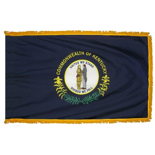 State of Kentucky Fringed Indoor Parade Presentation Flag
