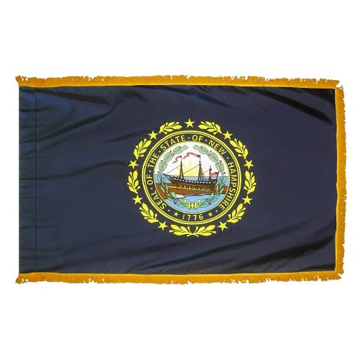 State of New Hampshire Fringed Indoor Parade Presentation Flag
