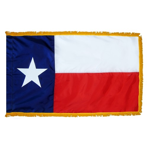 State of Texas Fringed Indoor Parade Presentation Flag