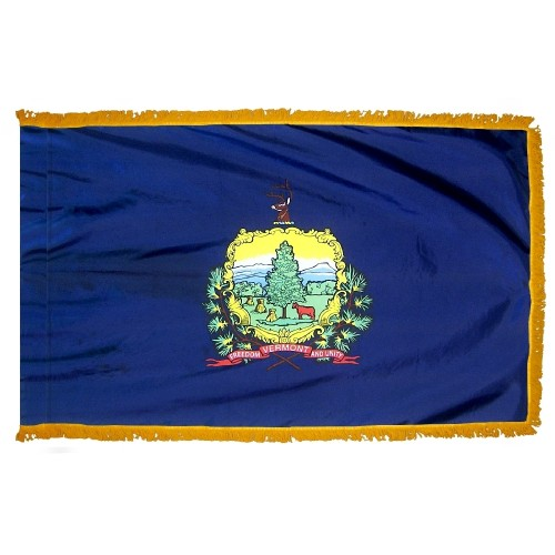 State of Vermont Fringed Indoor Parade Presentation Flag