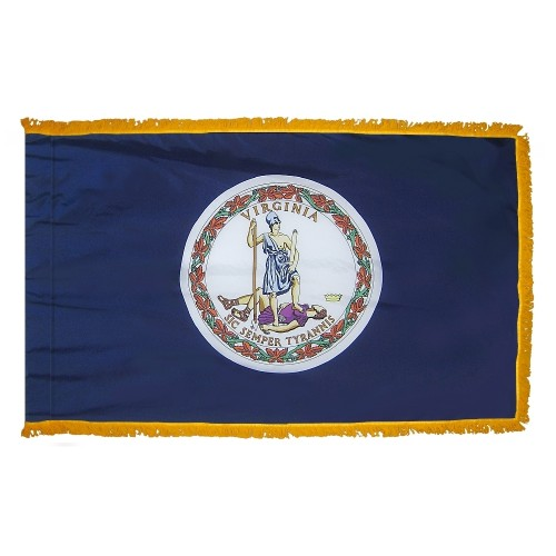 State of Virginia Fringed Indoor Parade Presentation Flag