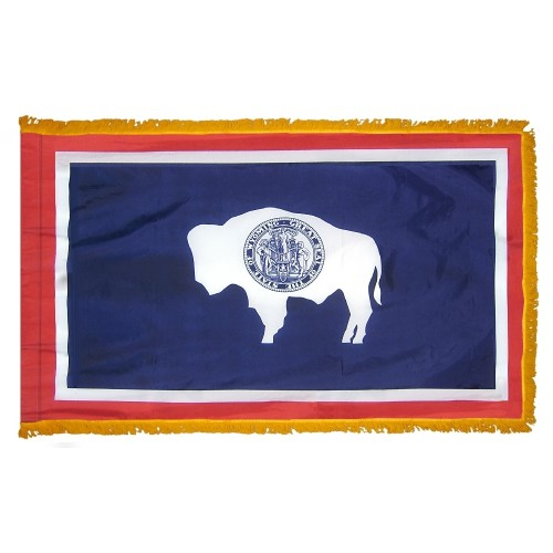 State of Wyoming Fringed Indoor Parade Presentation Flag