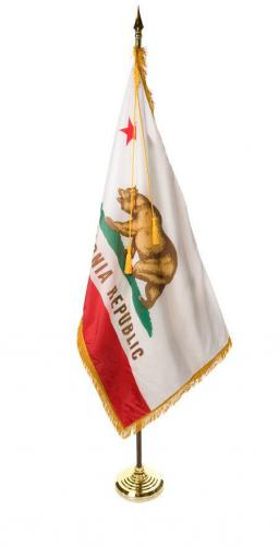 State of California Indoor Parade Presentation Flag Set Display