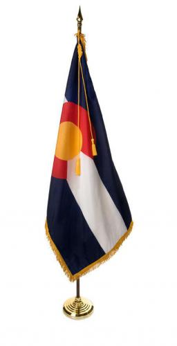 State of Colorado Indoor Parade Presentation Flag Set Display