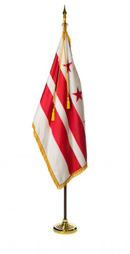 District of Columbia DC Indoor Parade Presentation Flag Set Display