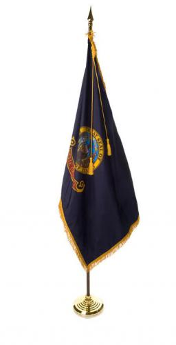State of Idaho Indoor Parade Presentation Flag Set Display
