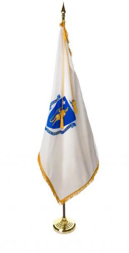 State of Massachusetts Indoor Parade Presentation Flag Set Display