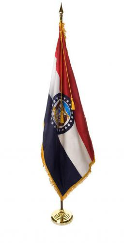 State of Missouri Indoor Parade Presentation Flag Set Display